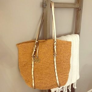 Michael Kors Woven Santorini Collection Tote